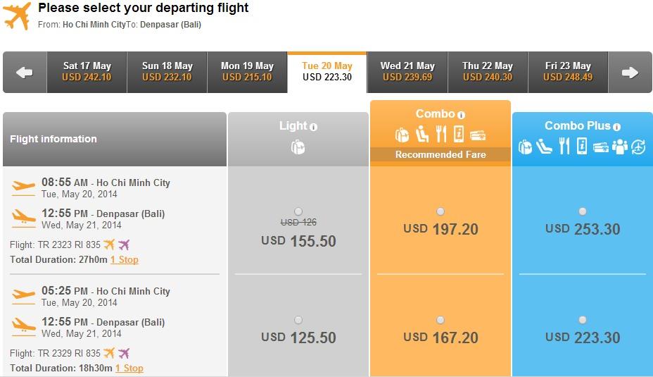 Vé máy bay Tiger Air đi Bali giá rẻ