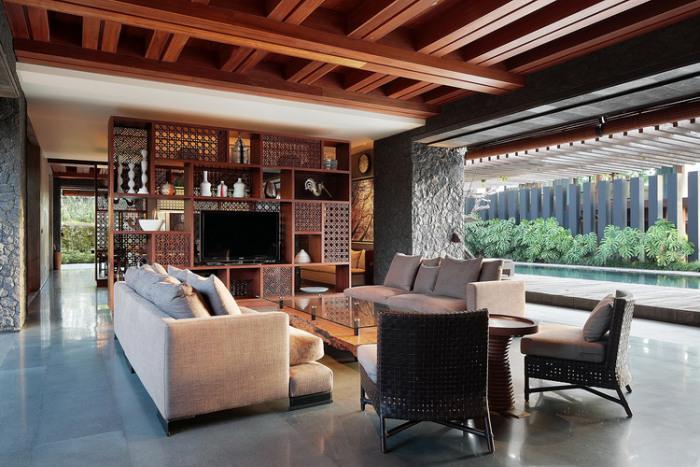 Thanh bình khu biệt thự xây bằng đá giữa lòng Bali