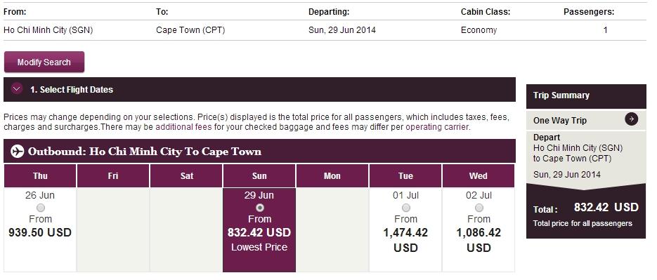 Vé máy bay đi Cape Town giá rẻ