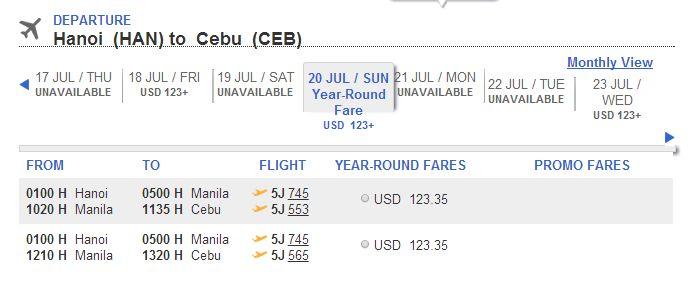 Vé máy bay Hà Nội đi Cebu giá rẻVé máy bay Hà Nội đi Cebu giá rẻ