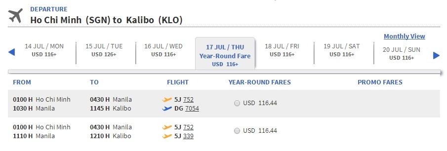Vé máy bay đi Kalibo giá rẻ