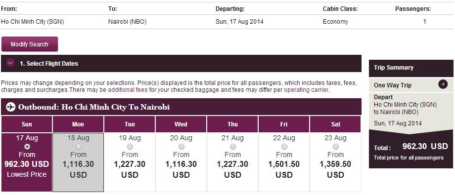 Mua vé máy bay đi Kenya giá rẻ