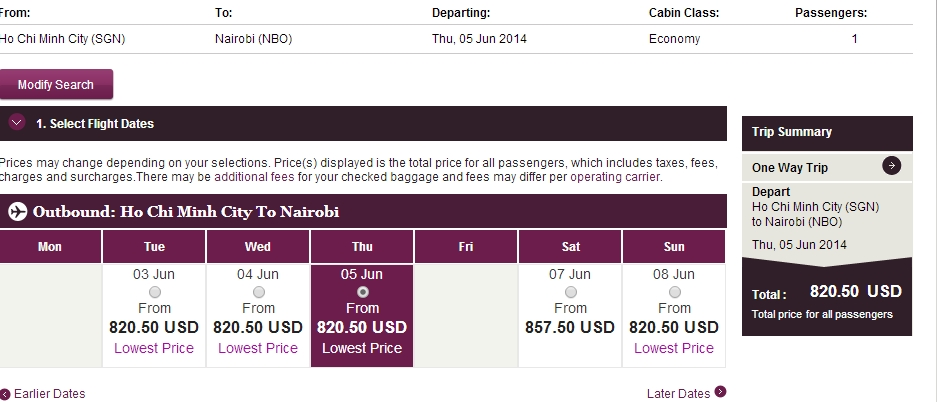 Vé máy bay đi Naibori giá rẻ