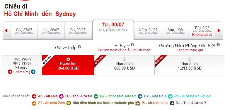 Mua vé máy bay đi Úc giá rẻ