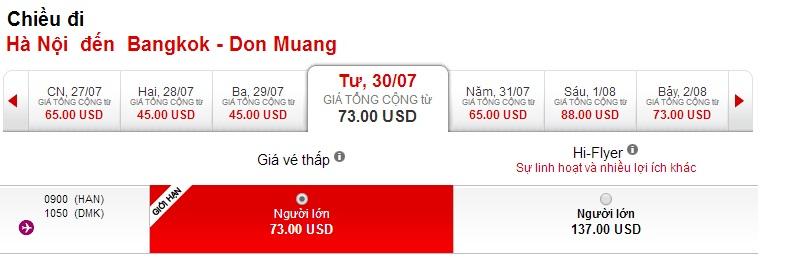 Giá vé máy bay đi Thái Lan cực rẻ