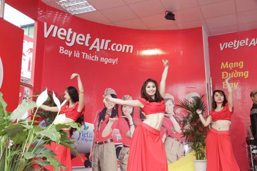 Vé máy bay từ 0 đồng tại gian hàng Vietjet
