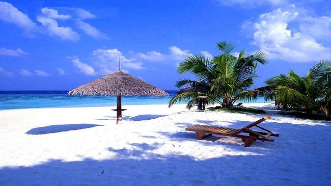 Bờ biển cát trắng