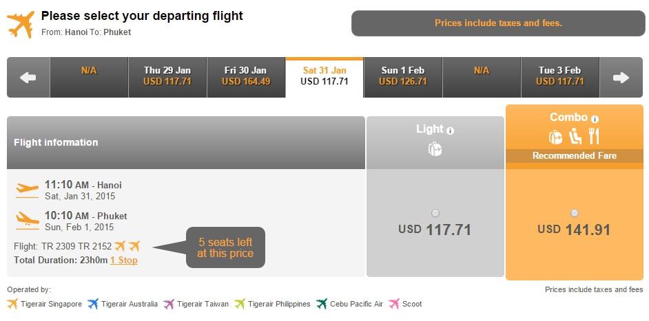 Đặt vé máy bay giá rẻ đi Phuket