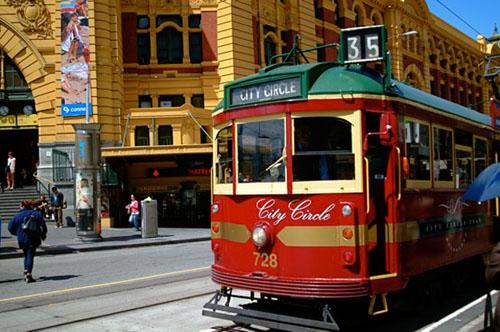 đi tàu điện tại Melbourne