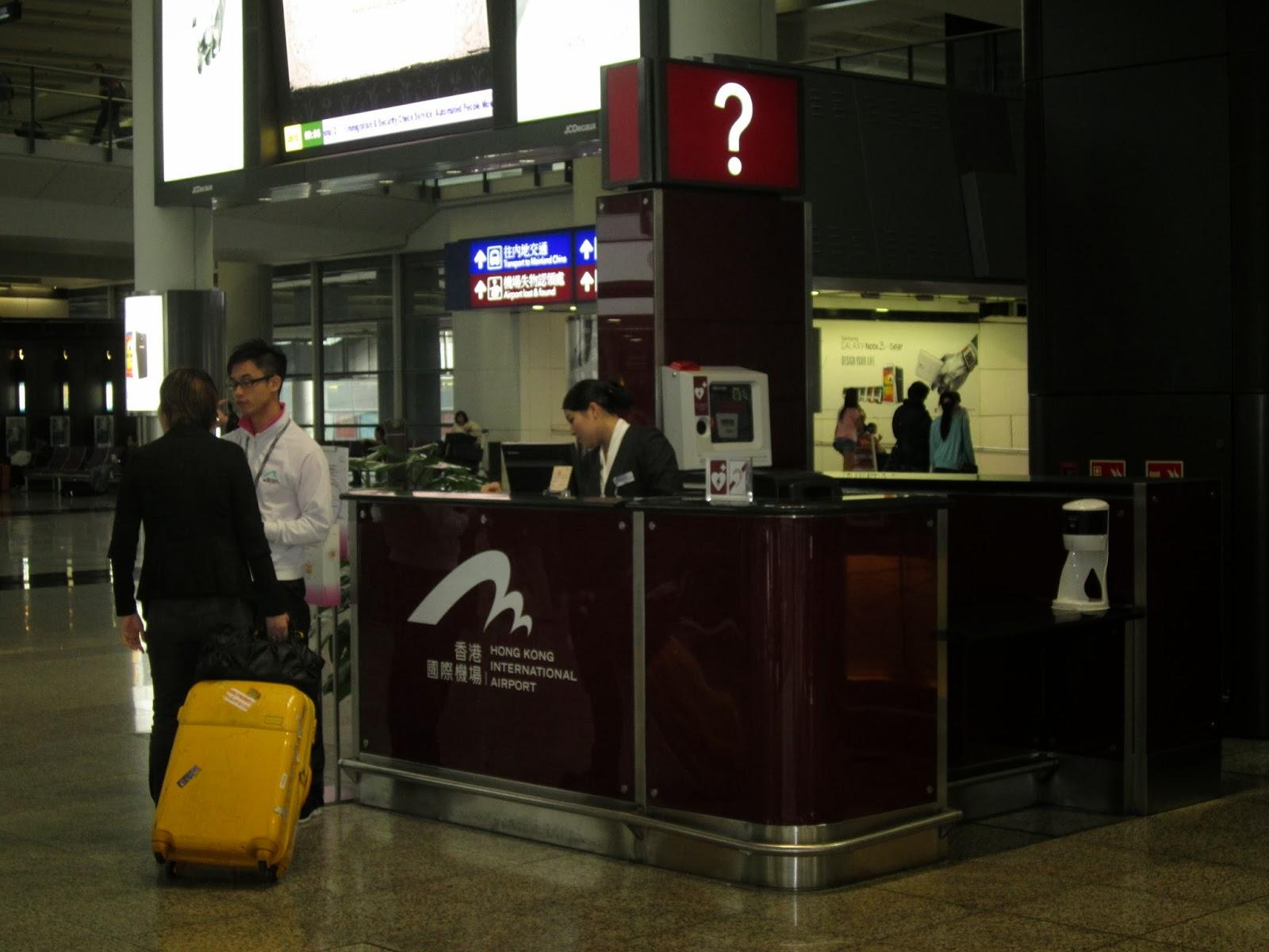 di chuyển tại sân bay Hong Kong