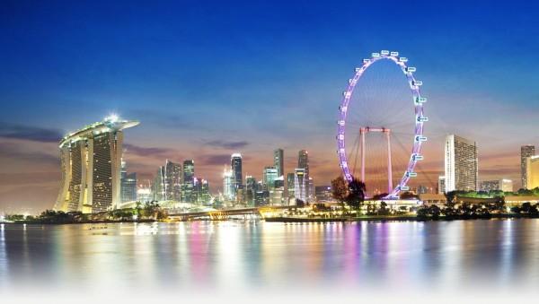 Một góc Singapore rưc rỡ huyền ảo dưới ánh đèn