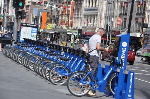 đạp xe tại Melbourne