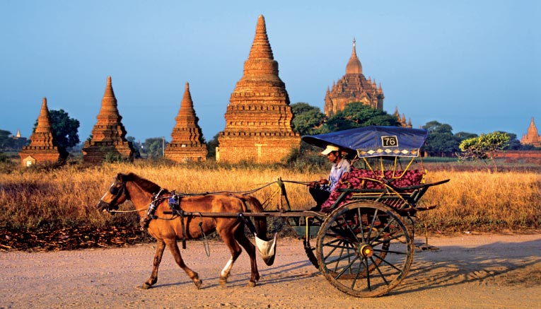 xe ngựa ở Myanmar
