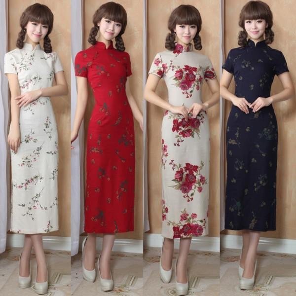 Vintage-Elegant-Chinese-Women-font-b-Long-b-font-font-b-Cheongsam-b-font-font-b