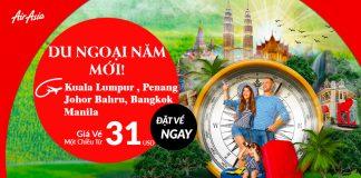 Air Asia mở bán vé một chiều chi từ 31 USD