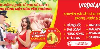Vietjet Air triển khai KM chúc mừng ngày 8/3