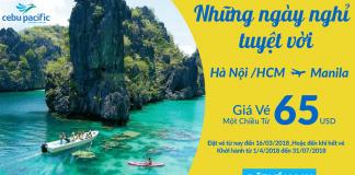 Cebu Pacific KM vé máy bay đi Manila giá rẻ