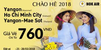 Nok Air khuyến mại chào hè 2018