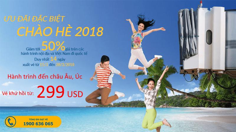 Vietnam Airlines mở bán vé khứ hồi KM từ 299 USD