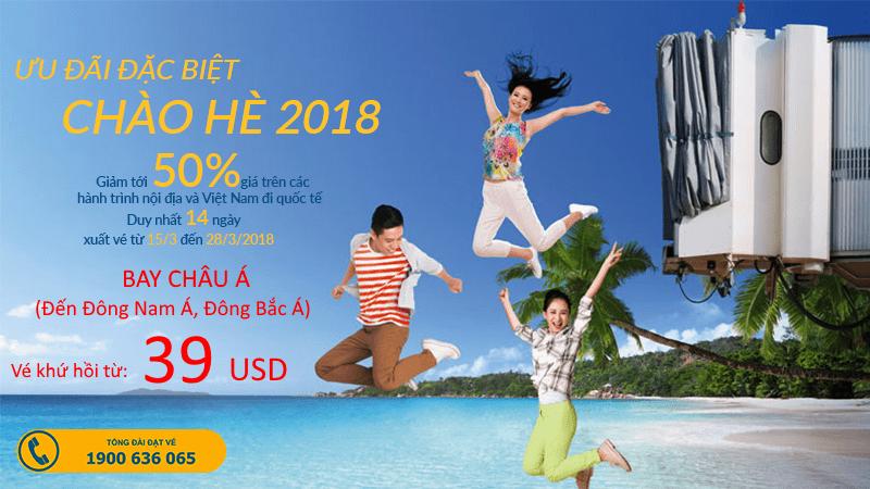 Đặt vé Vienam Airlines chỉ từ 39 USD - Bay châu Á