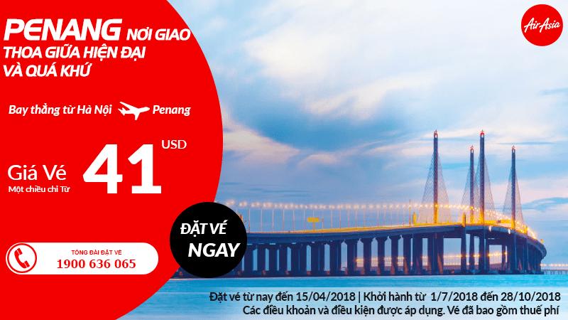 Mở đường bay thẳng Hà Nội - Penang