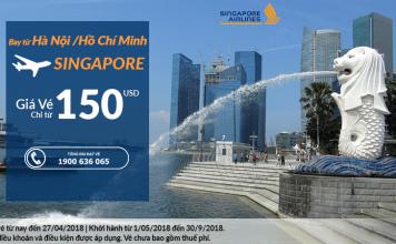 Singapore Airlines khuyến mại vé khứ hồi từ 150 USD