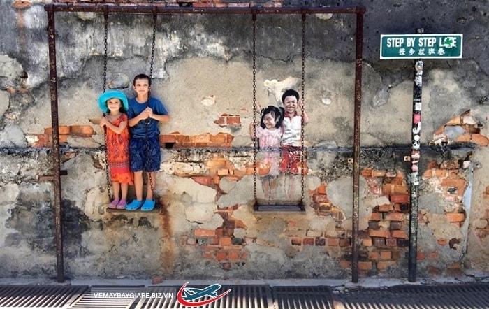 Chụp hình lưu niệm ở Penang