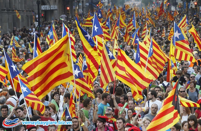 Lá cờ riêng của xứ Catalan