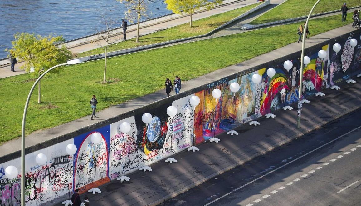 Bức tường Berlin giờ chỉ còn lai khoảng 1.5km