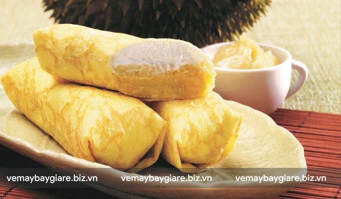 Durian Pancake món ăn đường phố nổi tiếng