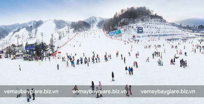 trượt tuyết là trải nghiệm thú vị đáng thử ở Hàn Quốc